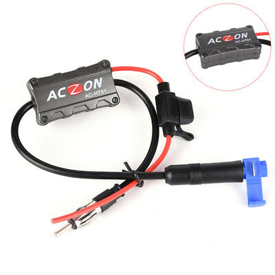 Universal Automobile Car FM/AM Radio Stereo Antenna Signal Amplifier Booster X