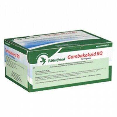 Top Flight Pigeon Gambakokzid  30 x 25g for Trichomoniasis and Coccidiosis BMFD