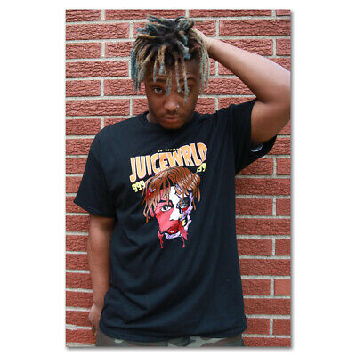 G178 Juice WRLD Rap Hip Hop Music Star Singer Art Silk Poster
