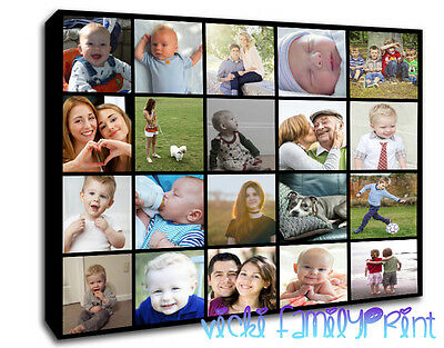 Personalised Canvas Collage Picture Family Gift Photos