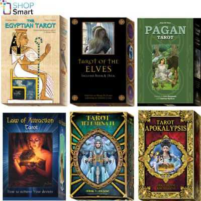 Tarot Cards Lo Scarabeo Book Set Deck Esoteric Fortune Telling New