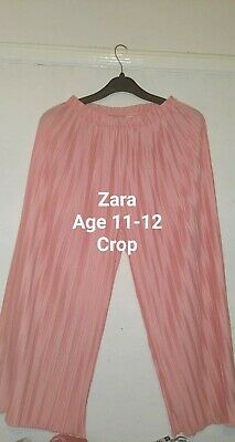 Zara Girls Pink Trousers Crop 11-12 Years. Next Day Post