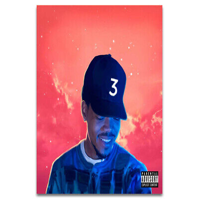 T447 Chance the Rapper Coloring Book 3 Hot Music Singer New Album Cover Poster