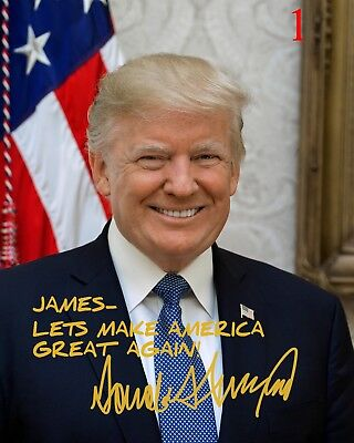 Customized Donald Trump 8x10 Signed Photo Official Print  Autographed MAGA