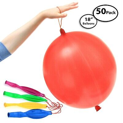 """50-Pack of Jumbo Punching Ball Balloons for Parties - 18"""" Inch"""