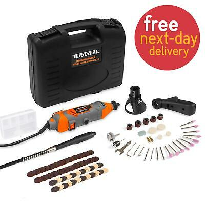 Rotary Multi Tool 135W with 80pc Accessory Set Storage Case Dremel Compatible