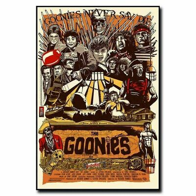 T855 Hot The Goonies 80s Classic Movie Vintage Film Silk Art Poster Decor