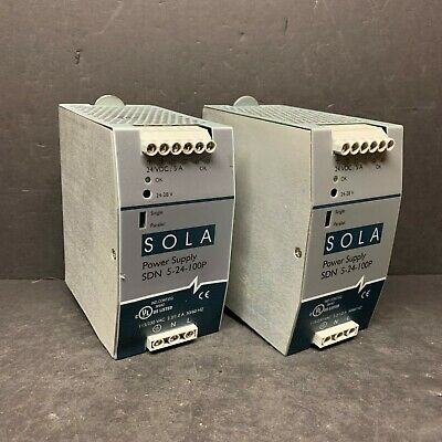 Sola Hevi Duty SDN5-24-100P Power Supply Module 24VDC 5A 120W AC DC SDN DIN Mnt