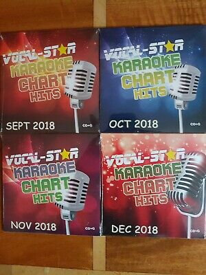 VOCAL-ST☆R  SEPT to DEC  2018 KARAOKE POP CHART HITS 72 SONGS  4 CD+G DISC SETS