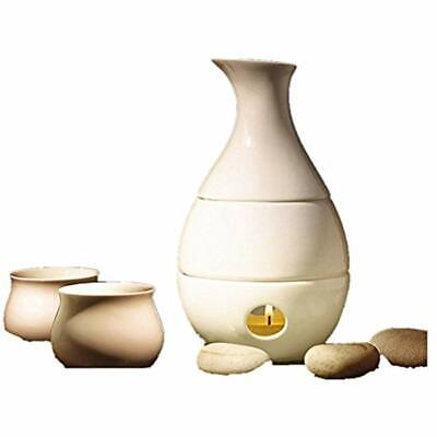 White Sake Sets Ceramic With 4 Cups Wine Pot Warmer Carafe Decanter