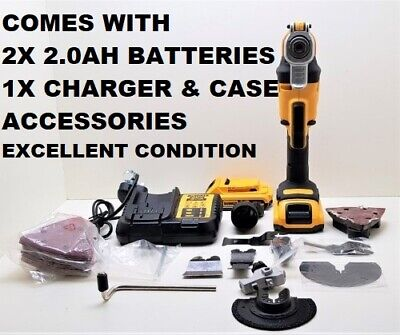 DeWALT DCS355D2 18v XR Oscillating Multi Tool 2x Batterie & CHARGER ,Accessories