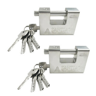 2pcs  Heavy Duty Security Padlock Chain Lock Shipping Container Garage Warehouse
