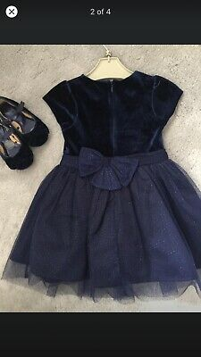 Girls Navy Marks And Spencer Dress Age 12-18 Months