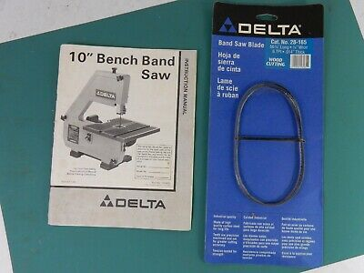 "Delta  10/"" Band Saw  Model 28-160 Instruction Manual"