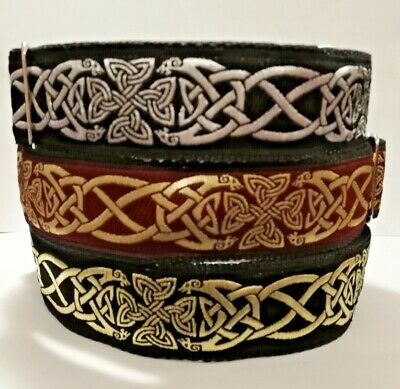 Martingale Dog Collar Celtic Burgundy Gold Greyhound Lurcher Saluki Whippet Pod