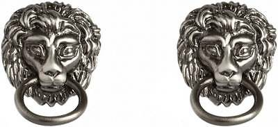 Simon Carter Lion Head Door Knocker Cufflinks - Silver