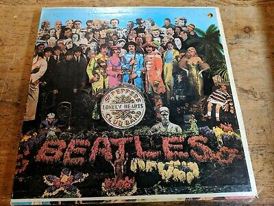 The Beatles Sgt. Peppers 1967 LP Vinyl Nice Original Complete SMAS 2653