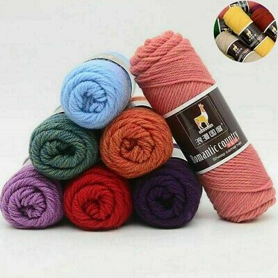 Wool Medium Thread Worsted  Soft Yarn New Crochet Alpaca knitting Thickness 100g