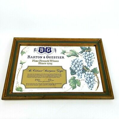 Barton & Guestier French Wine Advertising Mirror Grapes B&G Browne Vintners NY