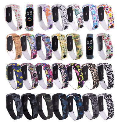 Camouflage Wristbands Bracelet Strap Watch Band Silicone For Xiaomi Mi Band 4 3