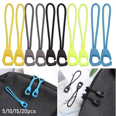 Outdoor Zip Puller Replacement Zipper Pull Cord Rope Pullers Ends Lock Zips