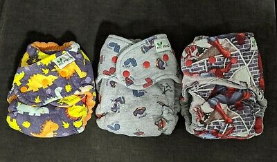Lot Of 3 My Munch Fitted Cloth Diapers