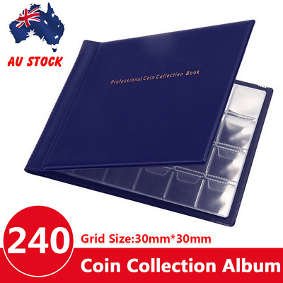 240 Coins Holder Collection Storage Collecting Money Penny Pockets Album Book AU