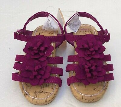 NWT Gymboree Jump Into Summer Purple Flower Wedge Shoes Girls Size 10
