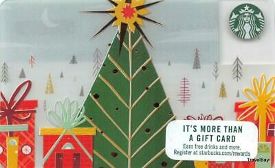 Starbucks Christmas Gift Card 2017 Collectible NEW NV - Pin Covered