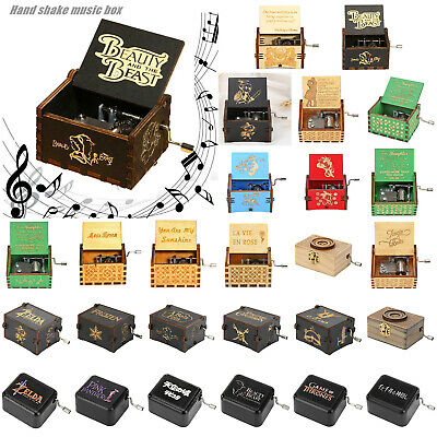 Wooden Music Box Harry Potter Game of Thrones Engraved Toys Kids Gift Desk Decor