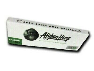 50ct Organic Hemp Rolling Papers 1 1/4 size Afghan Hemp RAW Elements