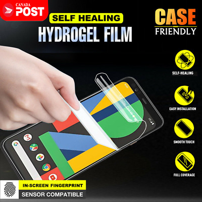 For Google Pixel 4 4XL Hydrogel Clear Full Coverage Screen Protector Film Guard