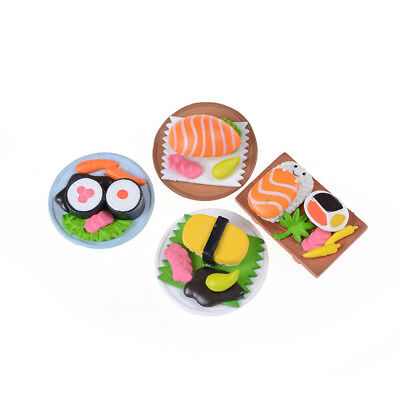 Sushi Bento Lunch For Miniature Dollhouse Handmade Food Home Kitchen Decor IO