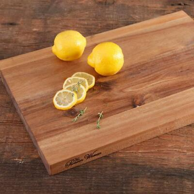 "Acacia Wood Cutting Board Kitchen Butcher Slice Serving Chopping Block 12""x18"""