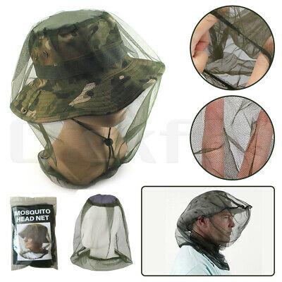 Mosquito Fly Head Net Insect Mesh Hat Bee Bug Mozzie Protector Outdoor Fishing