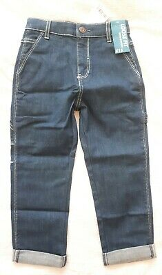 BNWT Next Boys 5-6 Years Loose Fit Blue Jeans, With Stretch