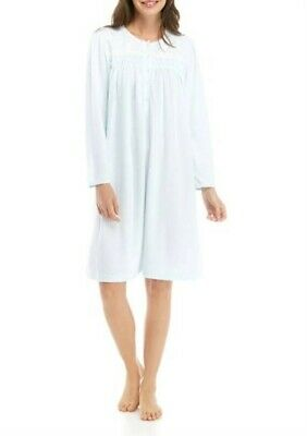 New Miss Elaine M Honeycomb Brushed Cuddleknit Pointelle Short Nightgown #69982