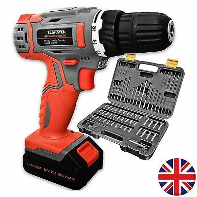 18V Cordless Drill Driver with 70pc Drill Bit Set
