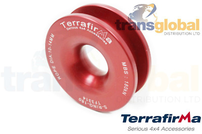 18 Tonne MBS Red Winch Alloy Snatch Ring Terrafirma TF3314