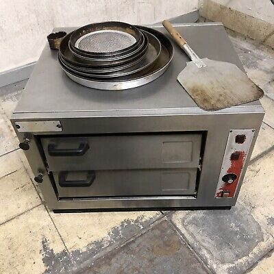 Used Commercial Pizza Oven With Pan Set