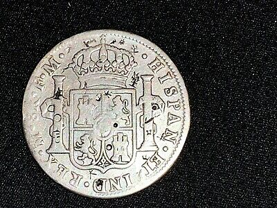 Spain Silver Bust dollar 8 reales Charles IIII 1799 with numerous chop marks