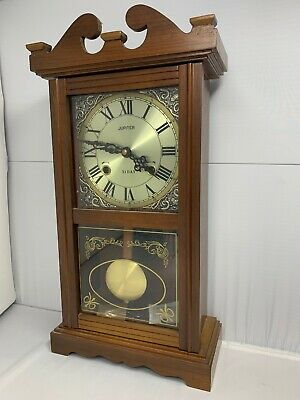 Beautiful Antique Vintage Wooden Jupiter 31 day Wall Clock