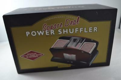 Square Deal Card Shuffler, Tested, Includes Sealed Deck of Cards - Brand NEW