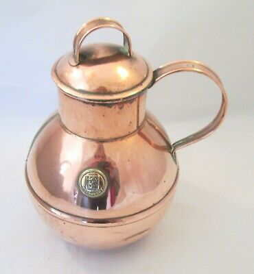 Crested Vintage Copper Guernsey Creamer / Milk Jug by Martins of Guernsey
