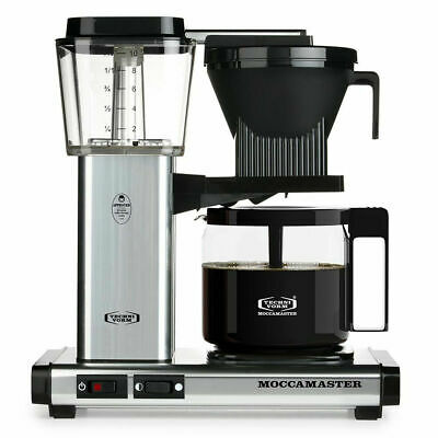 Moccamaster 59616 KBG Coffee Brewer 40 oz Polished Silver New Open Box