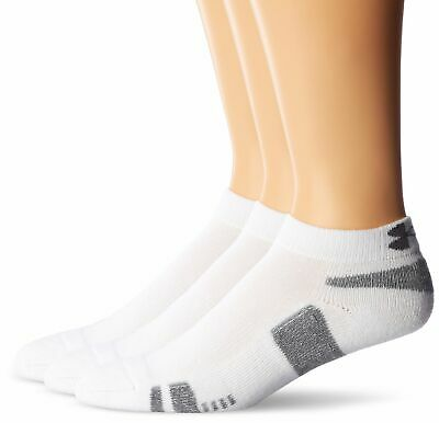 Under Armour Jungen Running Laufsocken Heatgear 3PK LO Cut YTH, White, Large/G