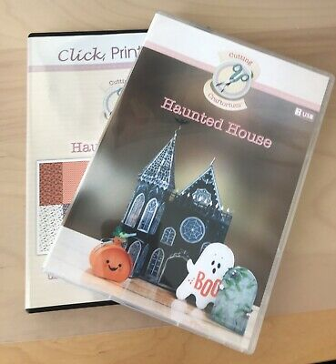 Cutting Craftorium Haunted House Usb With Cs Rom Of Backing Papers