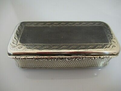 Solid Silver Late Victorian Large Heavy Snuff Box 1885 Alfred Taylor