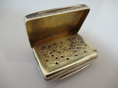 Solid Silver William Iv Vinaigrette By Francis Clark 1835