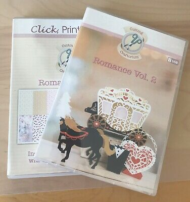 Cutting Craftorium Romance Vol.2 Usb With Cd Rom Of Backing Papers